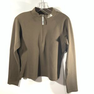 North Face Brown Quarter Zip Pullover